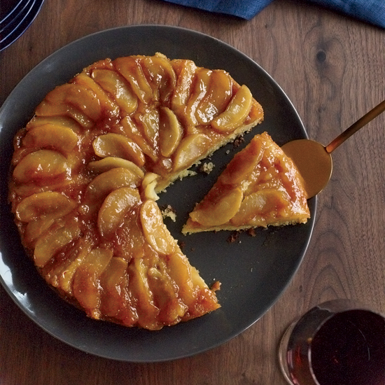 Maple-Apple Upside-Down Cake