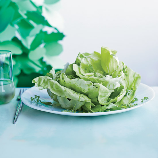 Summer Party Food: Boston Lettuce Salad with Herbs