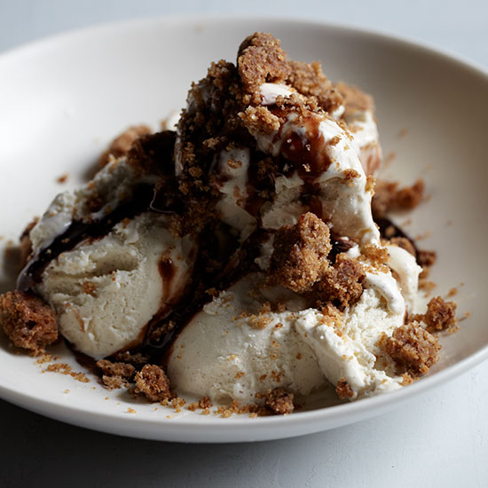 Vanilla Ice Cream with Brown Butter Crumble