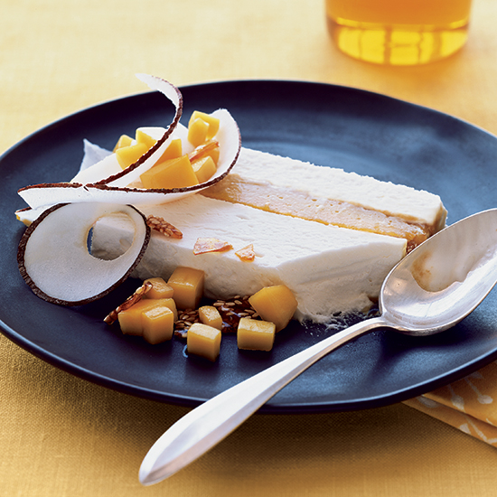 Cold and Creamy Mango-Coconut Terrine