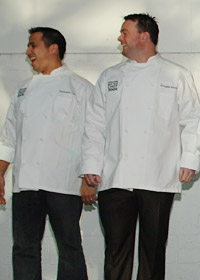 2006 Best New Chefs <a href='/bestnewchefs/?year=2006&chef=6A1E3C04-4E05-4A92-82BB10532712F9C6'>Christopher Lee</a> (Striped Bass, Philadelphia) and <a href='/bestnewchefs/?year=2006&chef=98DA68F4-AEB2-492C-993549691D1F6371'>Douglas Keane</a> (Cyrus, Heal