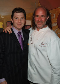 Chefs Bobby Flay and Tom Valenti.