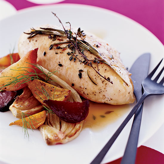 Chicken Breasts with Rosemary and Thyme