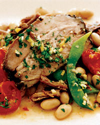 Slow-Cooked Pork Shoulder with Cherry Tomatoes