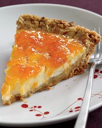 Yogurt and Apricot Pie with Crunchy Granola Crust
