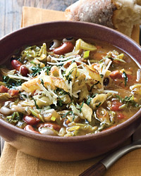 Minestrone with Black-Eyed Peas and Kidney Beans