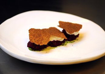 David Chang's Vegetarian Favorites: Beet and Goat Cheese Tart