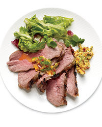 Sous Vide Tri-Tip with Cilantro Butter
