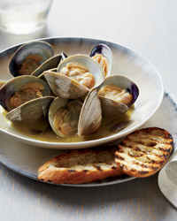 Foie Gras–Steamed Clams