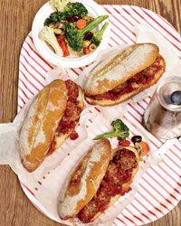 Meatball-and-Provolone Subs
