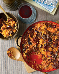 Rice with Duck and Apricots
