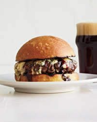 Umami Burgers with Port and Stilton