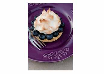 Blueberry Lime Meringue Tart
