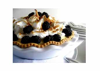 Lime & Blackberry Meringue Pie