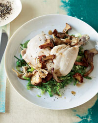 Pot-Roasted Chicken with Mushrooms