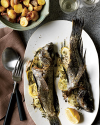 Whole Fish Roasted with Potatoes and Thyme