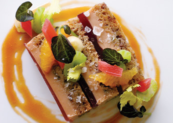Foie Gras-Banana Bread Terrine: Seasons at the Ocean House; Watch Hill, Rhode Island