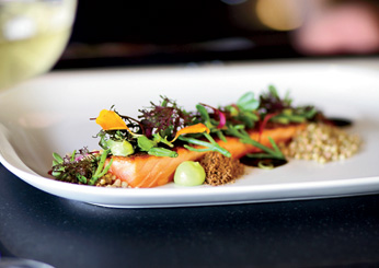 Wild Salmon with Sea Beans & Buckwheat: Salt of the Earth, Pittsburgh