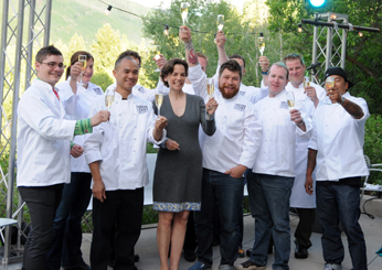 Dana Cowin toasts the FOOD & WINE Best New Chefs