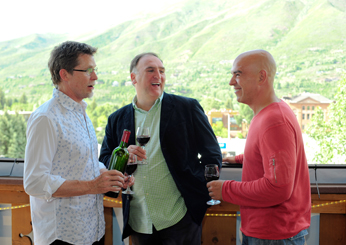 Rick Bayless, José Andrés and Michael Symon