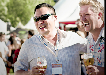 David Chang with Tim Love at a Grand Tasting