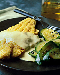Sautéed Catfish with Mustard Sauce