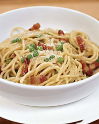 Carbonara with Green Peas