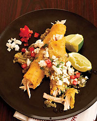 Chicken and Cheese Enchiladas Verdes