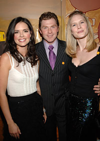 Katie Lee Joel with chef <a href='/chefs/index.cfm?chefid=F915449A-3307-4546-B7A0E56BDB1535EB'>Bobby Flay</a> (Mesa Grill, Bolo and Bar Americain, NYC) and his wife, actress Stephanie March.