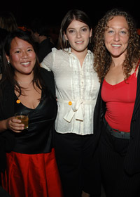 F&W's Gail Simmons with <em>Top Chef</em> contestants Lee Anne Wong and Andrea Beaman.