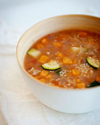 Moroccan Chicken-and-Couscous Soup