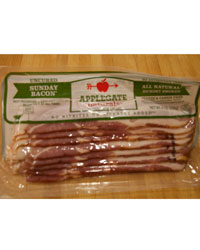 Applegate Farms Hickory Smoked Uncured Sunday Bacon ©Maggie Mariolis