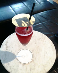 Crushed Nun cocktail; Photo by Leah Herman.