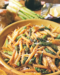 Quick Pasta Recipes like Penne with Roasted Asparagus and Balsamic Butter