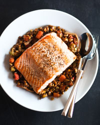 Quick Fish Recipes Like Asian Salmon-and-Rice Soup