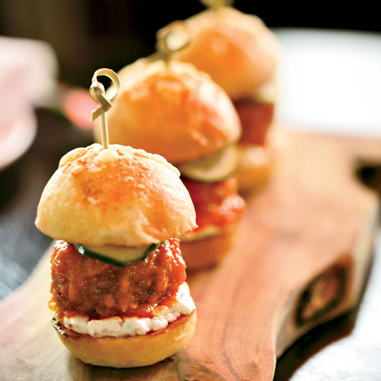 Lamb-Meatball Sliders: Locanda Verde, New York City