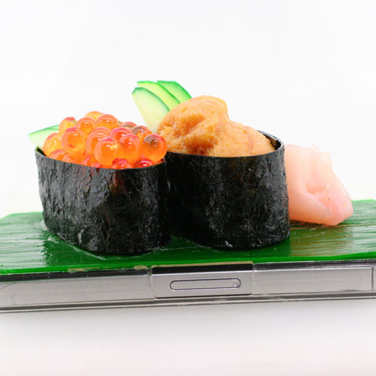 Sea Urchin and Salmon Roe (Uni and Ikura) Sushi