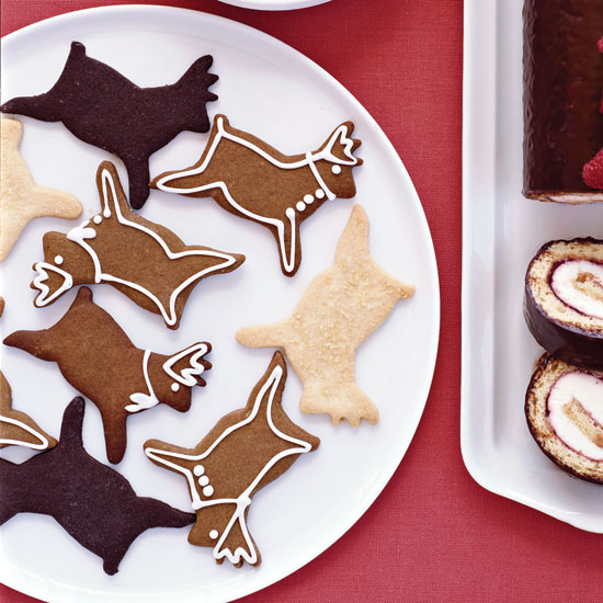 Chocolate Shortbread Reindeer Holiday Cookie