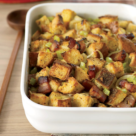 Bacon, Onion and Rye Bread Stuffing
