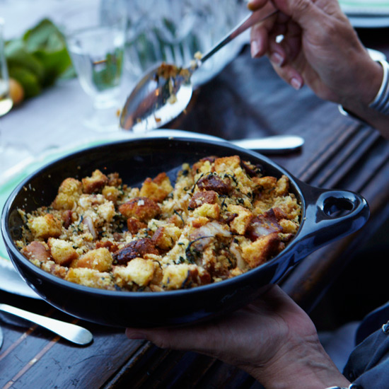 Skillet Recipe: Corn Bread Stuffing with Bacon