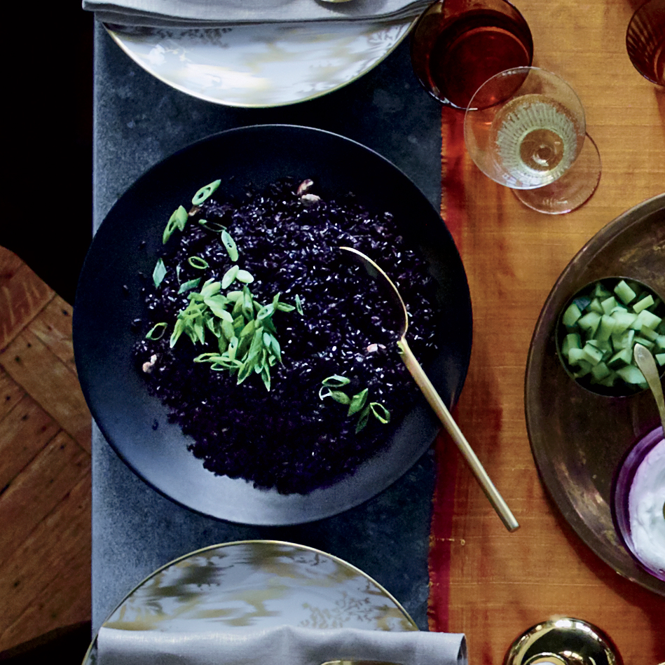 Forbidden Black Rice with Ginger and Cardamom