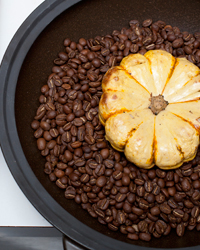 Fall Produce: Coffee-Baked Squash with Crème Fraîche
