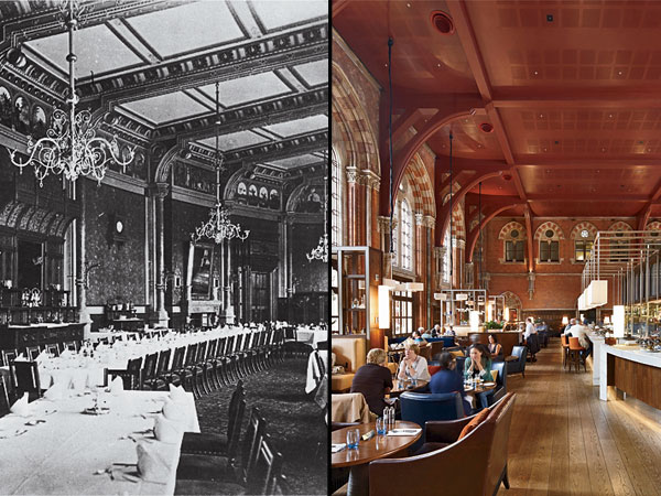 St Pancras Renaissance Hotel, then and now.