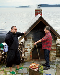 Canadian Food: Outdoor wood-fired oven