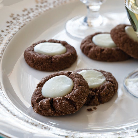 Chocolate–Mint Thumbprints