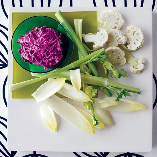 Creamy Beet Dip with White Crudités