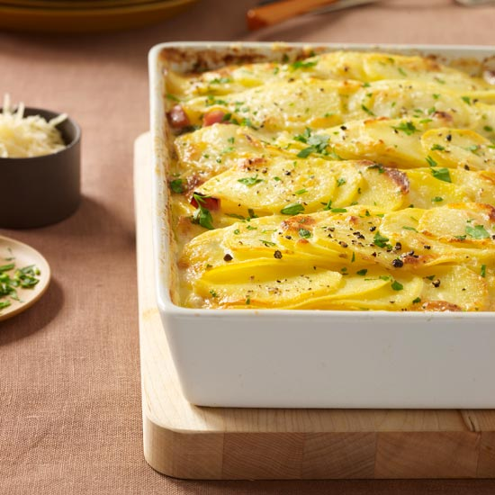 scalloped potatoes with ham - Best Christmas Ham