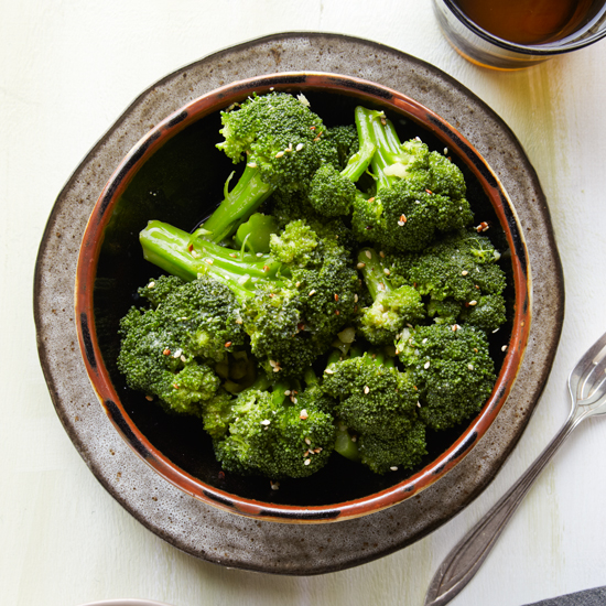 Broccoli Salad with Ginger-Miso Vinaigrette