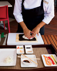 Sushi-Rolling at Riviera Maya's Blue Diamond Resort