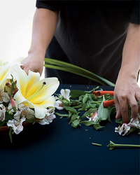 Flower Arranging at Riviera Maya's Paradisus Playa del Carmen